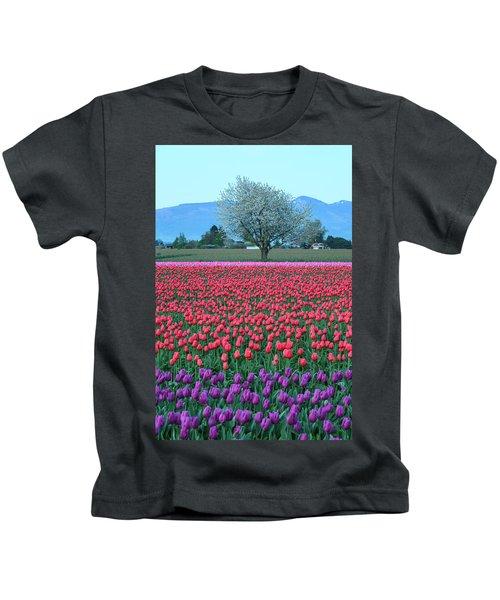 Twilight In Skagit Valley Kids T-Shirt