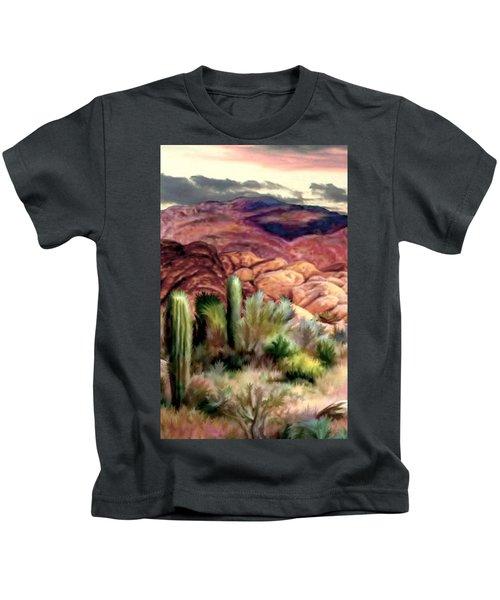 Twilight On The Desert Image 1 Kids T-Shirt