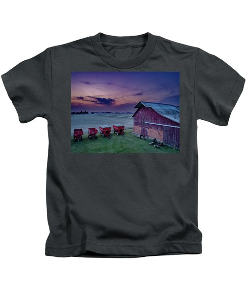 Twilight On The Farm Kids T-Shirt