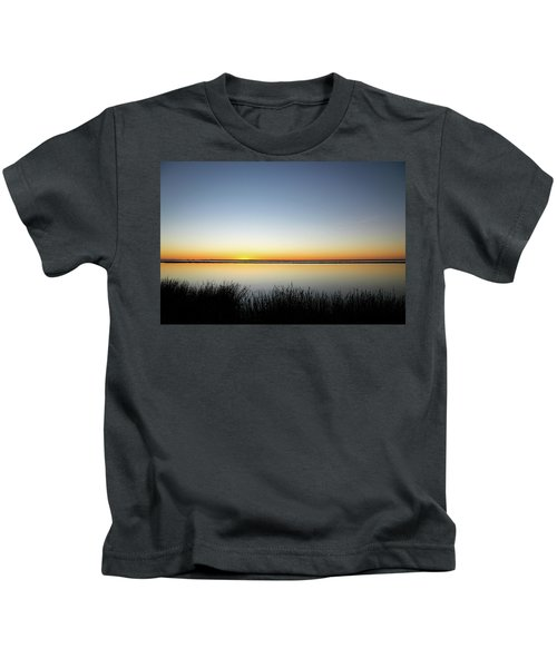 Twilight Stillness Down By The Beach Lagoon Kids T-Shirt