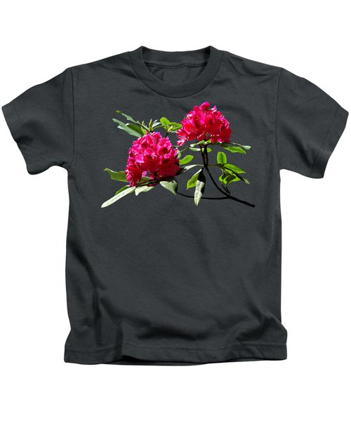 Two Dark Red Rhododendrons Kids T-Shirt
