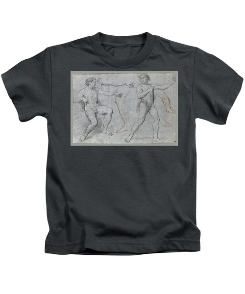 Two Male Nudes And Separate Studies Of A Leg A Left Arm And A Right Hand Kids T-Shirt