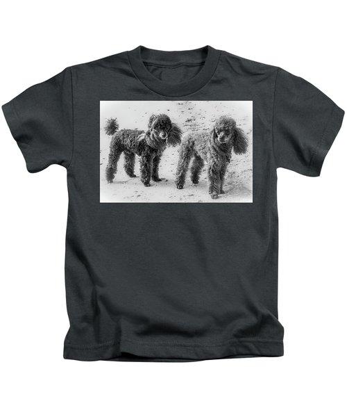 Two Toys B/w Kids T-Shirt