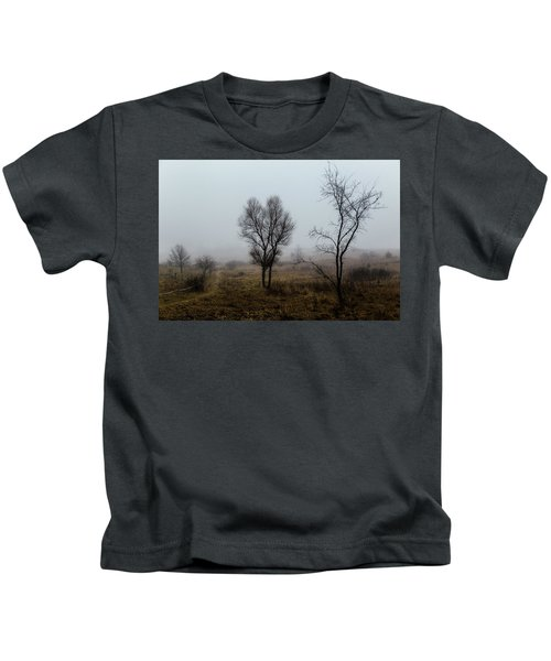 Two Trees In The Fog Kids T-Shirt