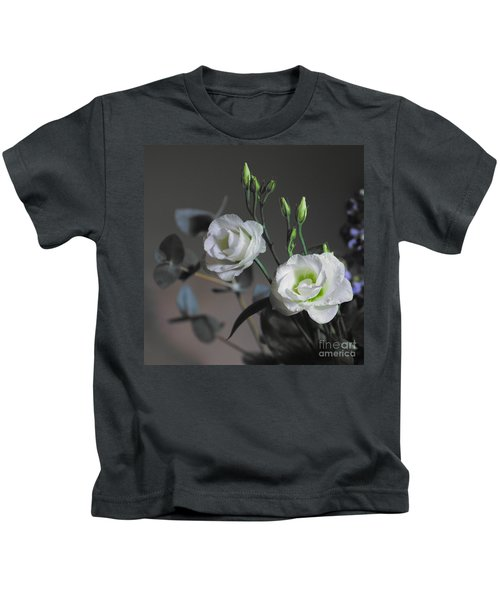 Kids T-Shirt featuring the photograph Two White Roses by Jeremy Hayden