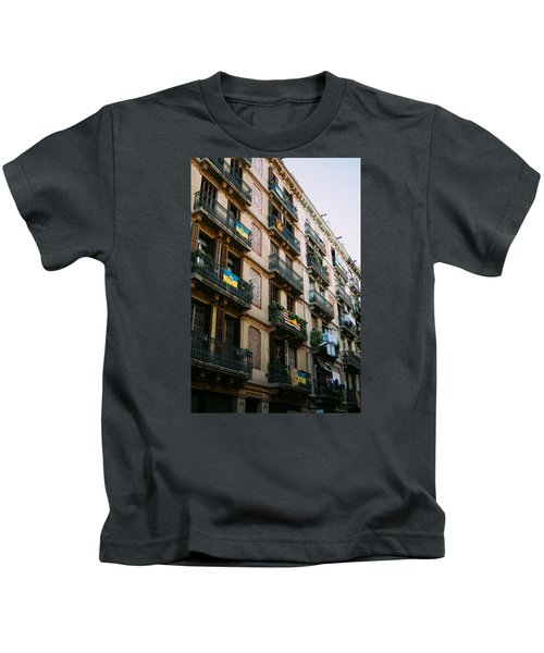 Typical Building In Barcelona Kids T-Shirt