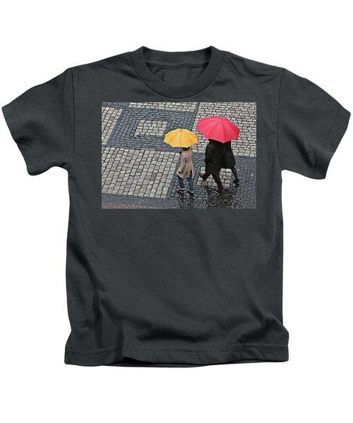 Rainy Day In Heidelberg Kids T-Shirt