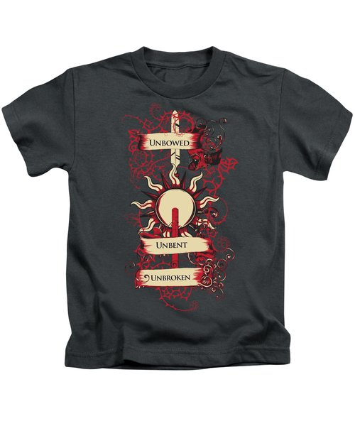 Unbowed Unbent Unbroken Kids T-Shirt