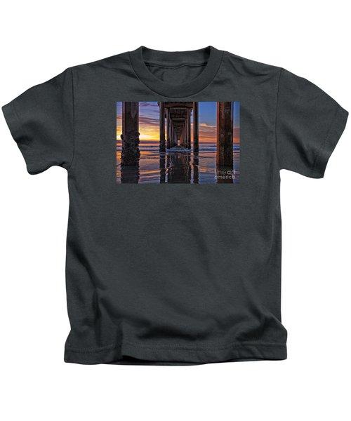 Under The Scripps Pier Kids T-Shirt