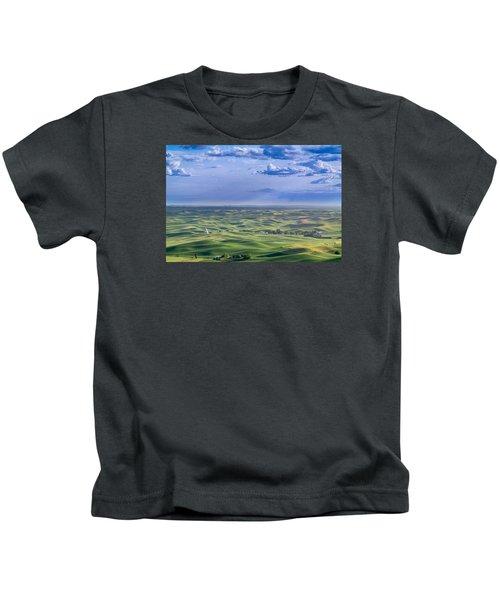 Undulating Palouse Wheatfields Kids T-Shirt