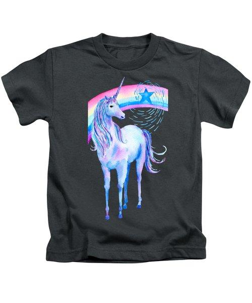 Unicorn And Rainbow Kids T-Shirt