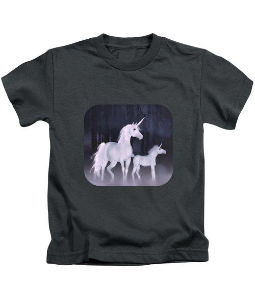 Unicorns In The Mist Kids T-Shirt