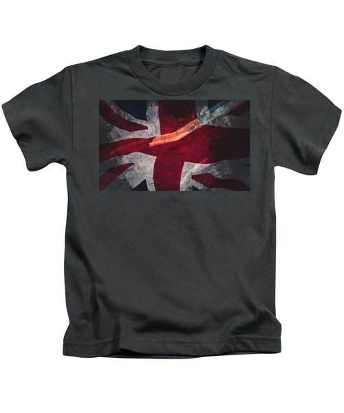Union Jack Fine Art, Abstract Vision Of Great Britain Flag Kids T-Shirt