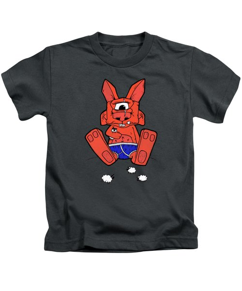 Uno The Cyclops Bunny Kids T-Shirt by Bizarre Bunny