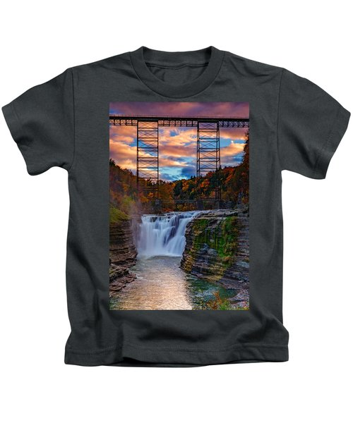 Upper Falls Letchworth State Park Kids T-Shirt
