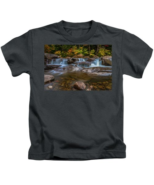 Upper Swift River Falls In White Mountains New Hampshire Kids T-Shirt