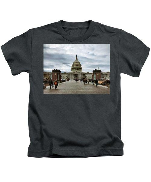 U.s. Capitol Building Kids T-Shirt