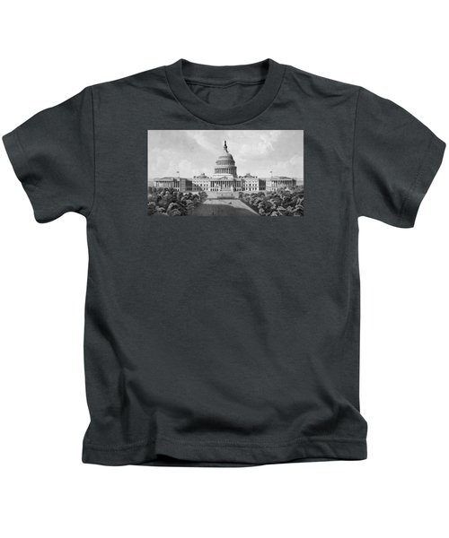 Us Capitol Building Kids T-Shirt by War Is Hell Store