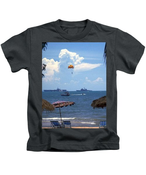 Us Navy Off Pattaya Kids T-Shirt