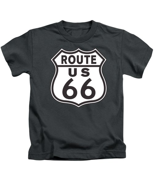Us Route 66 Sign Kids T-Shirt