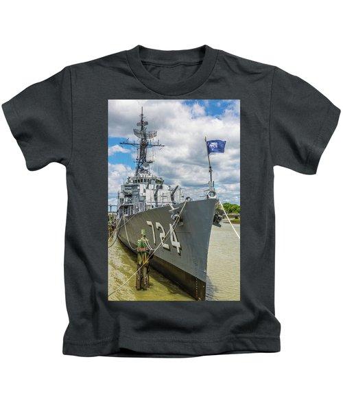 Uss Laffey Dd-724 Kids T-Shirt