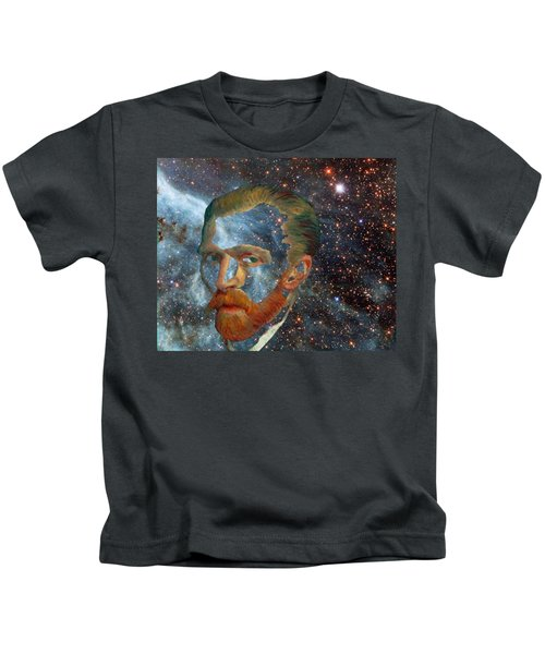 Van Gogh Art Study In Blue Kids T-Shirt