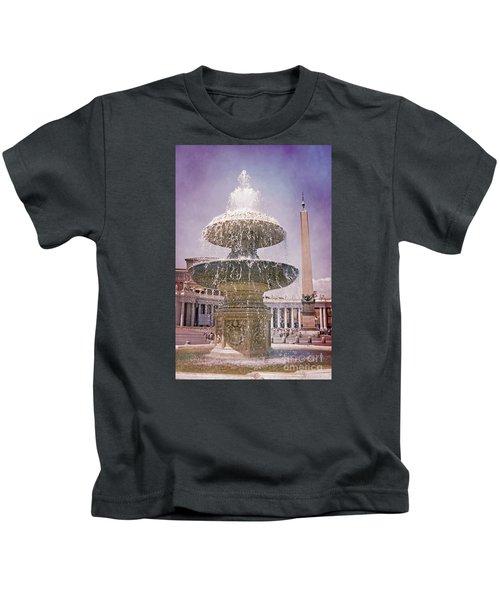 Vatican City Fountain Kids T-Shirt