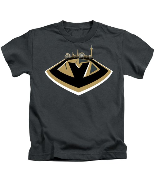 Vegas Golden Knights With Skyline Kids T-Shirt
