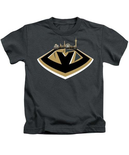Vegas Golden Knights With Skyline Kids T-Shirt