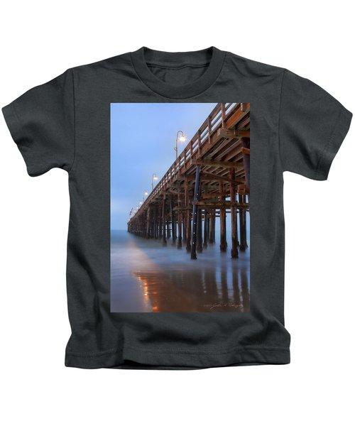 Ventura Ca Pier At Dawn Kids T-Shirt