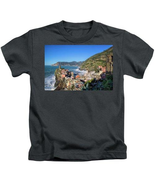 Vernazza In Cinque Terre Kids T-Shirt