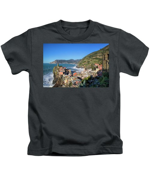 Vernazza In Cinque Terre Kids T-Shirt