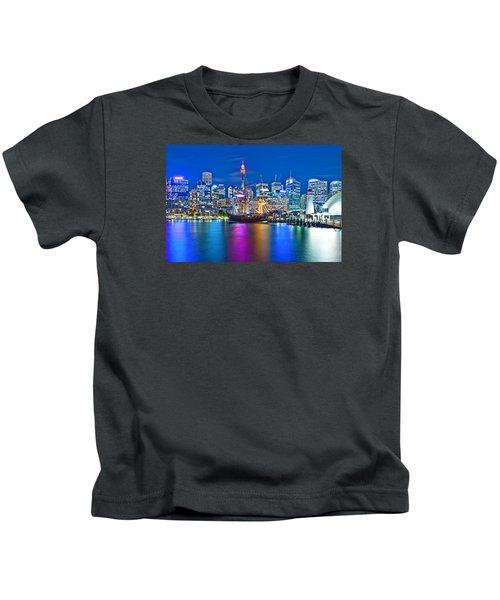 Vibrant Darling Harbour Kids T-Shirt