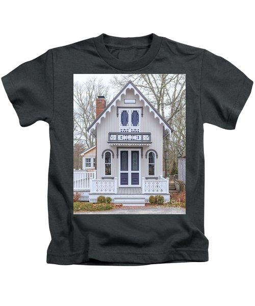 Victorian Cottage On Cape Cod Kids T-Shirt