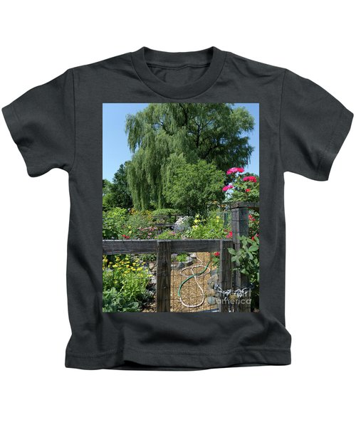 Victory Garden Lot And Willow Tree, Boston, Massachusetts  -30958 Kids T-Shirt