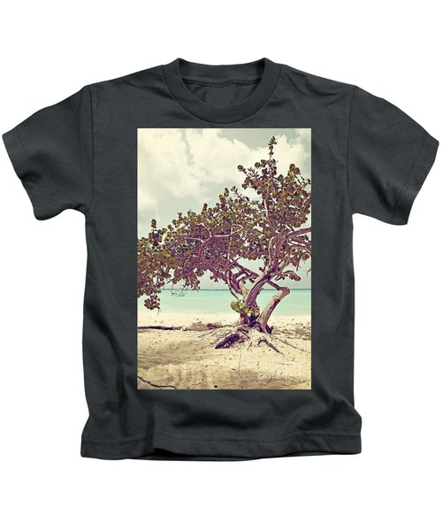 View At The Ocean With Boats In The Water Kids T-Shirt