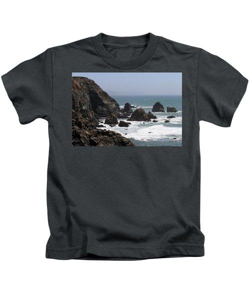 View From Bodega Head In Bodega Bay Ca - 4 Kids T-Shirt