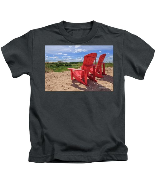 View From The Sand Dunes Kids T-Shirt