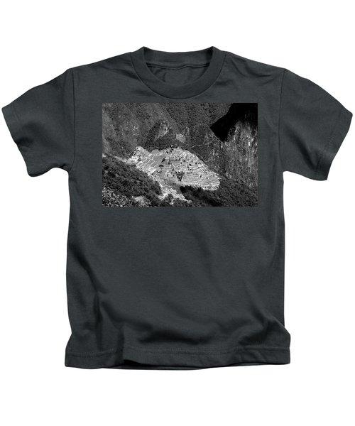 View Of Machu Picchu From The Inca Trail Kids T-Shirt