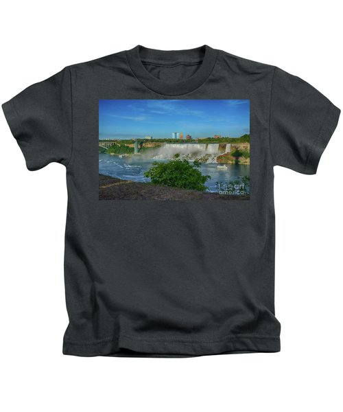 View Of Usa From Canada Kids T-Shirt