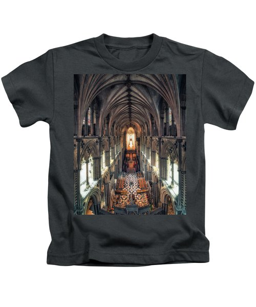 View Through Ely Cathedral Kids T-Shirt