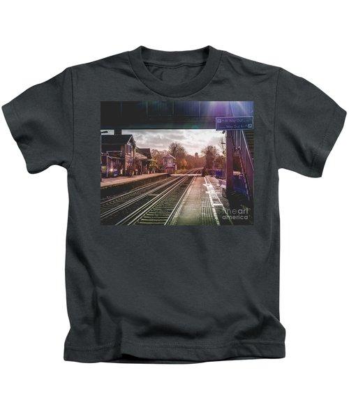 The Village Train Station Kids T-Shirt