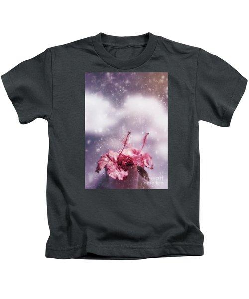 Vintage Flower In The Summer Rain Kids T-Shirt