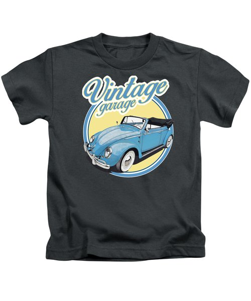 Vintage Garage Bug Kids T-Shirt