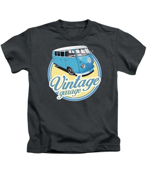 Vintage Garage Bus Kids T-Shirt