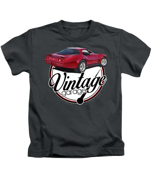 Vintage Garage Corvette Kids T-Shirt