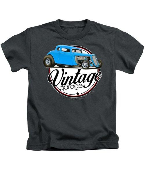 Vintage Garage Hot Rod Kids T-Shirt