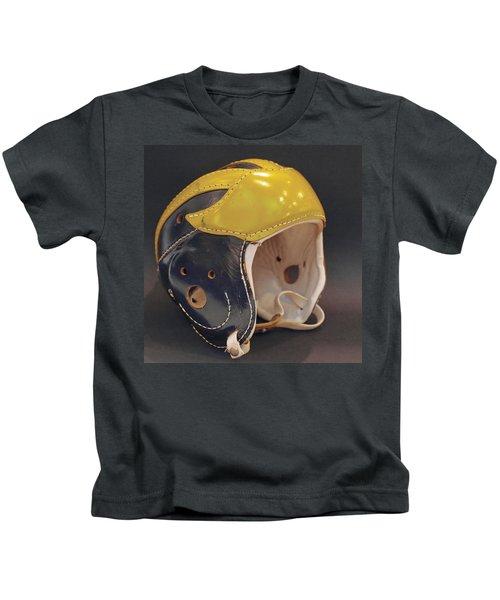 Vintage Leather Wolverine Helmet Kids T-Shirt