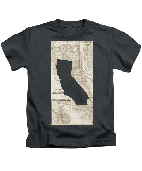 Vintage Map Of California Phone Case Kids T-Shirt