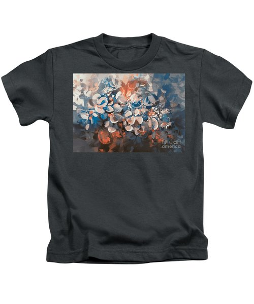 Kids T-Shirt featuring the painting Vintage Petal by Tithi Luadthong